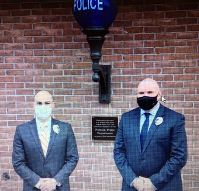 New Putnam Police officers Nicholas E. Ustin, left, and Roy D. Hicks. [Photo contributed]