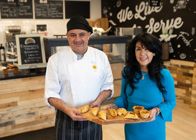 Roy Caceser and Albie Alvarez-Cote, co-owners of the newly opened Che! Empanada in Kelley Square.