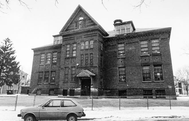 The old Freeland Street School, now the University Park Campus School.