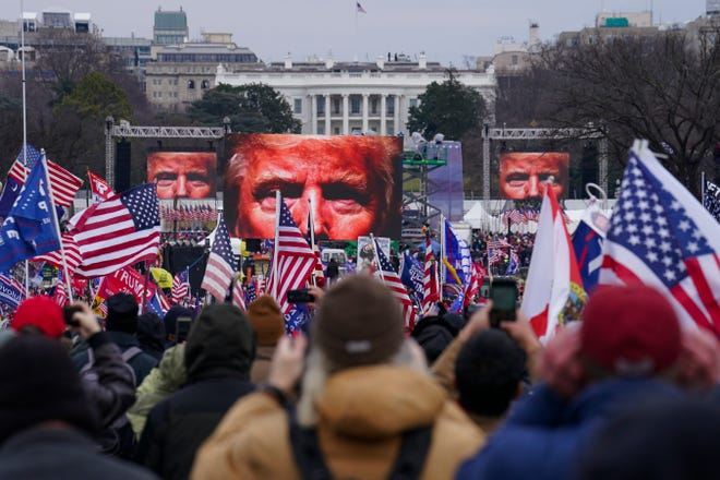 Trump supporters participate in a rally Wednesday in Washington.