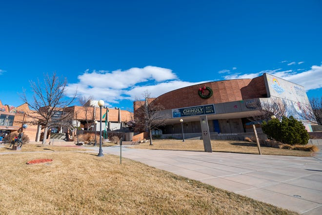 The Sangre de Cristo Arts and Conference Center at 210 N Santa Fe Ave.