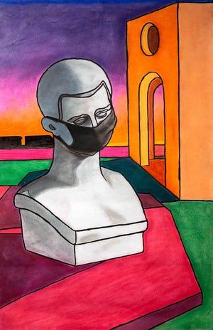 Drawing inspired By Giorgio De Chirico by Josh Medley.