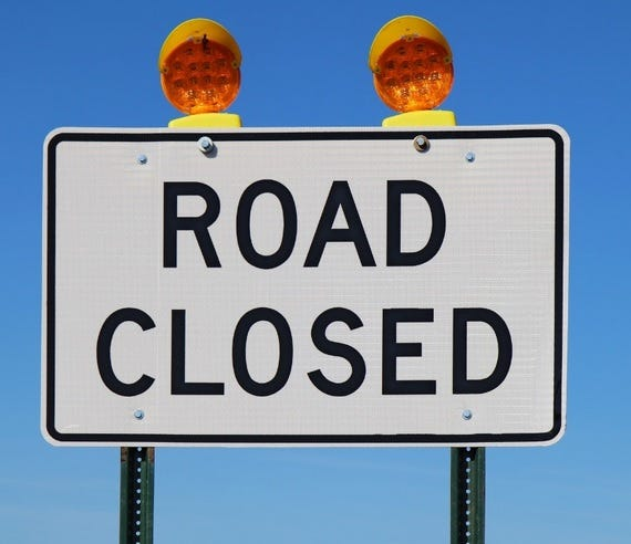 The intersection of Chadbourne Street and Concho Avenue will be closed for approximately three weeks beginning Tuesday, Jan. 12, 2021.