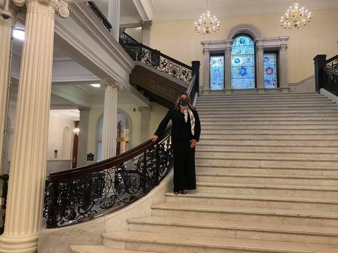 Jessica Giannino was sworn in as a state representative on Jan. 6 at the Massachusetts State House.