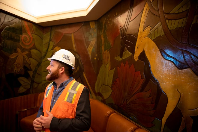 Enquirer Entertainment and Lifestyles Planning Editor Rasputin Todd tours Union Terminal before it reopened in 2018.