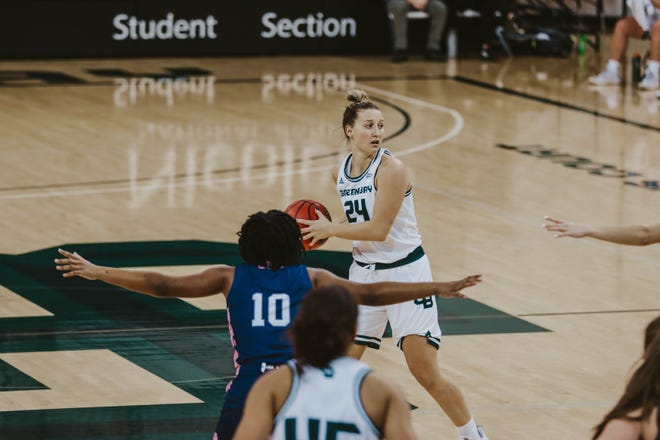 Junior guard Sydney Levy had 15 points in UWGB's 64-49 win over Detroit on Friday at the Kress Center.