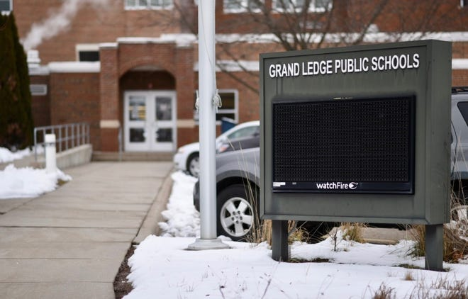 Grand Ledge Public Schools' administration building pictured January, 8, 2021.