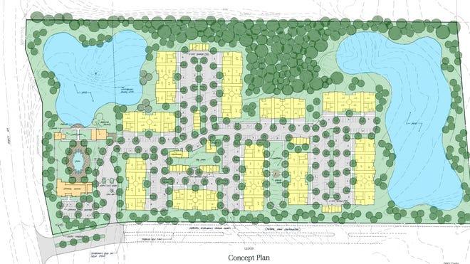 Concept plans show a proposed 260-unit apartment complex in Cordova.