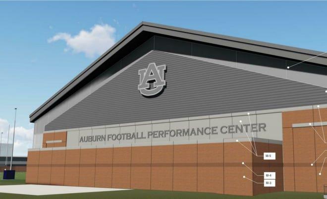 Design rendering of Auburn's Football Performance Center