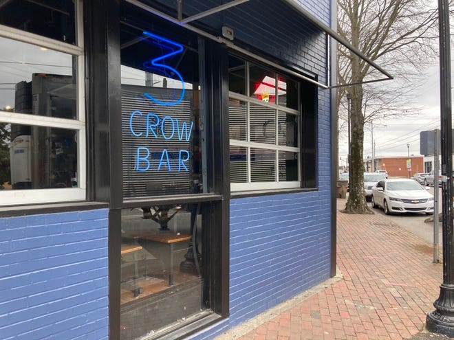 The outside of 3 Crow Bar in East Nashville's popular Five Points area