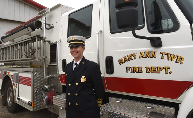 Keisha Amspaugh was recently promoted to assistant chief for Mary Ann Township Fire Department. Amspaugh is the third female assistant fire chief in Licking County's history.