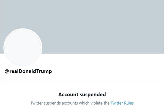 Donald Trump's Twitter account was permanently suspended Friday, Jan. 8.