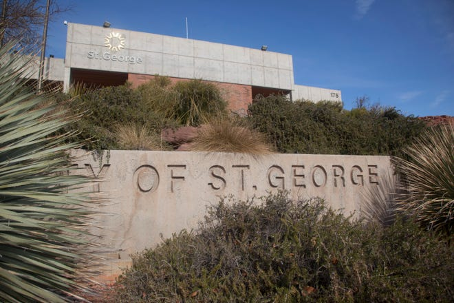 The City of St. George Mayor's office Friday, Jan. 8, 2021.