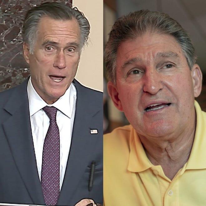 U.S. Senators Mitt Romney (R-Utah) and Joe Manchin (R-W. Va.)