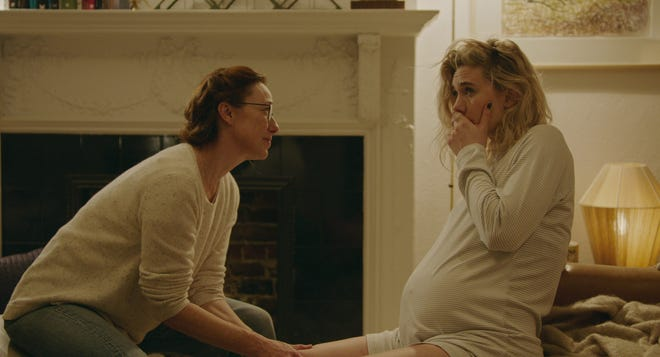 Vanessa Kirby (right) plays a woman whose home birth with a midwife (Molly Parker) doesn't go according to plan.