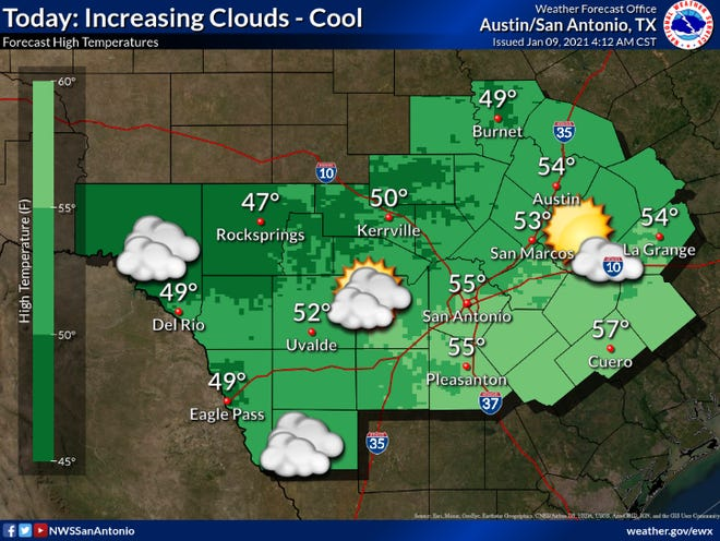 A cool Saturday could proceed wintery weather Sunday, according to the National Weather Service