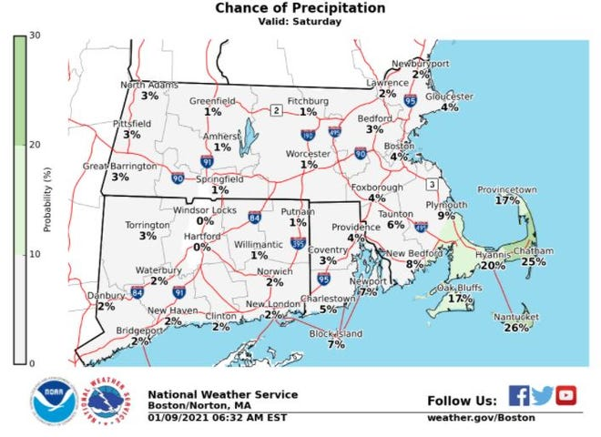 We might be seeing some snow on Cape Cod this Saturday