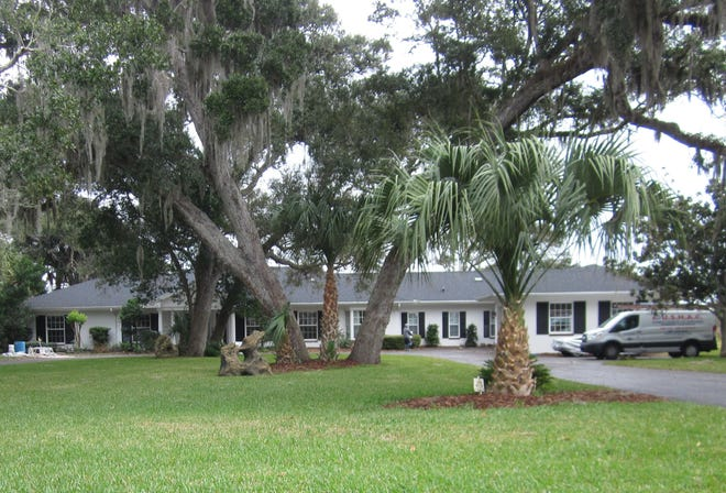 This Lambert Avenue home in Flagler Beach was built on a one-acre lot on the Intracoastal Waterway in 1973 and updated. It has four bedrooms and four baths in 4,418 square feet of living space. It also has a butler's pantry, a game room, two fireplaces, a master bedroom with a fireplace, a screened pool and spa with a summer kitchen and a covered dock and boatlift. It sold recently for $1,175,000.