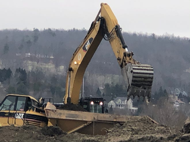 Site prep work is underway at the Shawmut Industrial Park just north of Alstom's Plant 2. A new factory to support Alstom's winning Metra contract is in the works for the site.