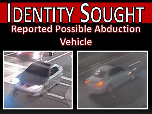 Jacksonville police are investigating the possible abduction of a woman at 50 W. State St. downtown about 9 p.m. Friday by a man in a gray BMW sedan.
