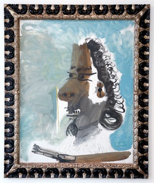 """Pablo Picasso's """"Le Peintre"""" (The Painter), 1967, is part of the Sotheby's show at the Royal Poinciana Plaza."""