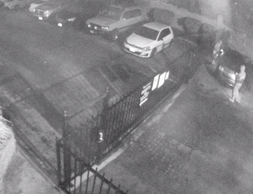The suspects were seen on camera from 4 a.m. to 7 a.m.