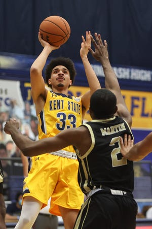 Redshirt freshman guard Jeremiah Hernandez has seen his role on the Kent State men's basketball team increase during the past few contests.
