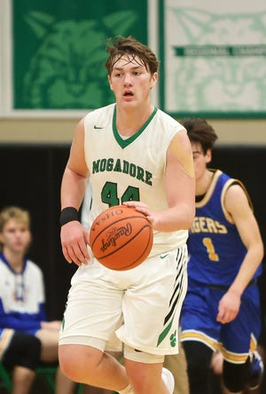 Mogadore sophomore Mason Williams, shown in an earlier game, led the Wildcats with 11 points against Cuyahoga Heights on Tuesday night.