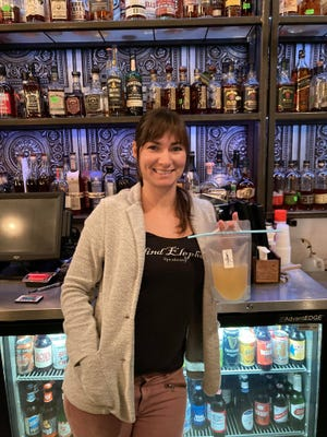 Ashley Tipper, owner of The Blind Elephant in downtown Wilmington, started is one local bar that started selling some cocktails to-go.
