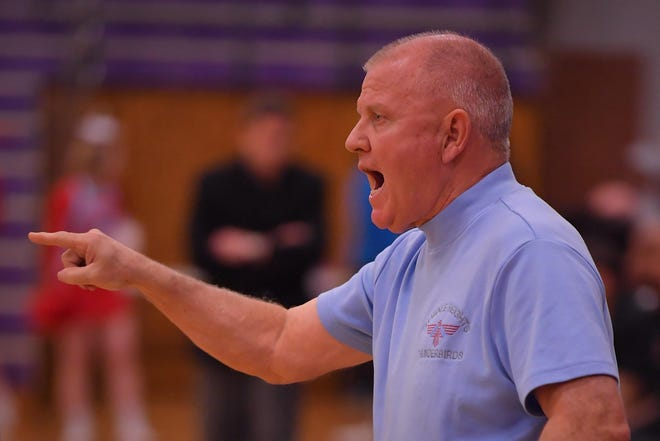 Ken Darting and the Shawnee Heights boys basketball team dropped a 64-51 decision Friday night at Lansing. The T-Birds were without three regular starters in the contest.