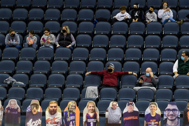 The University of Evansville will allow 2,500 fans into Ford Center for the Aces' remaining basketball games, the school announced on Monday,