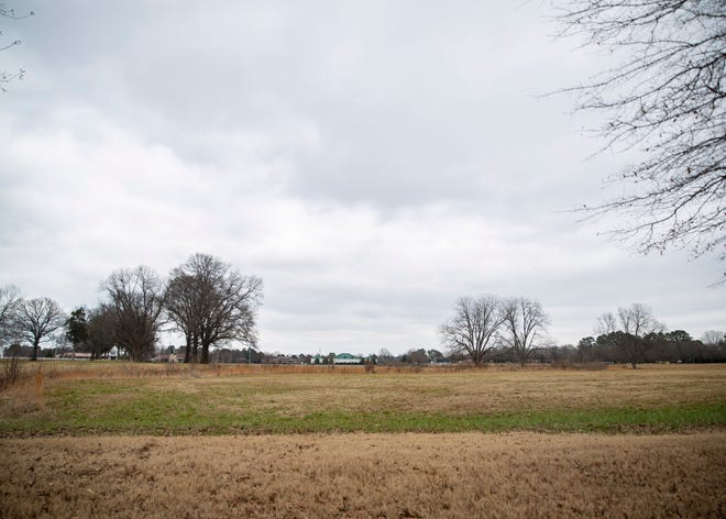The first phase of the Schilling Farms Water Tower District in Collierville includes townhomes, apartment buildings and duplexes. The property is pictured on Friday, Jan. 8, 2021.