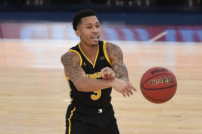 Te'Jon Lucas, shown in a game earlier this season, led the Panthers with 15 points in UWM's 71-63 victory over IUPUI on Saturday.