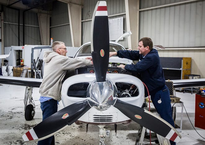 The Muncie Aviation Company expanded by recently acquiring Des Moines Flying Service.