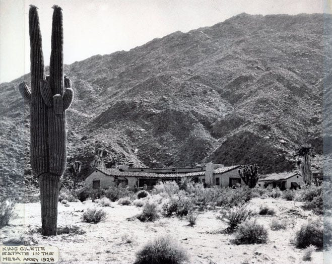 The King Gillette estate in the Palm Springs Mesa area in 1928.