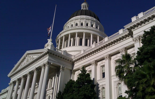 The State Capitol Building in Sacramento