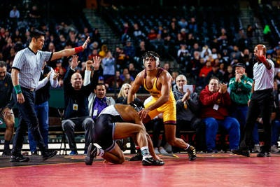 Arizona State's Anthony Valencia will be trying for a fourth Pac-12 title Sunday, something only two other Sun Devils have accomplished.