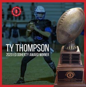 Mesquite quarterback Ty Thompson wins the prestigious Ed Doherty Award, given to the top Arizona high school football player. Grand Canyon Gridiron Club