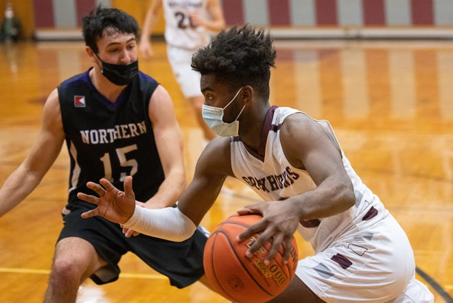 Jayden Statum (pictured against Northern York) had a game-high 31 points in a victory over Greencastle-Antrim on Friday night.