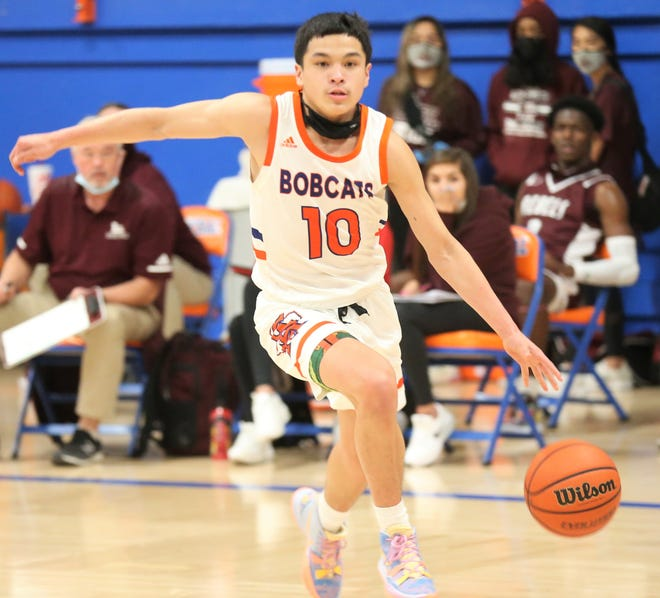 San Angelo Central's Raven Ortiz scored a game-high 20 points in the Bobcats' 66-40 District 2-6A home win against Midland Lee on Friday, Jan. 8, 2021.