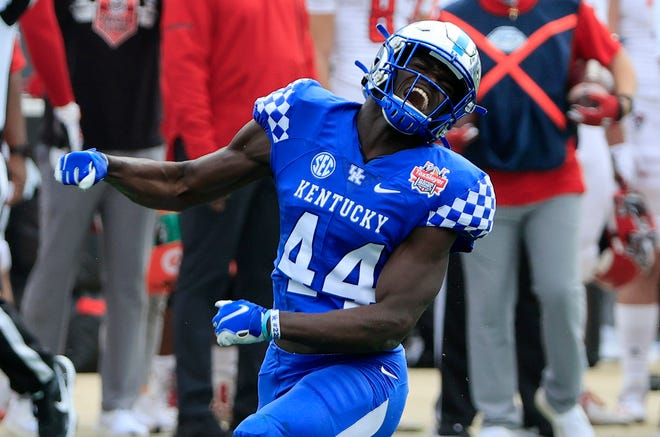 Kentucky linebacker Jamin Davis went from relative obscurity to a possible first-round pick in the NFL Draft through hard work and determinaton. [Getty Images]