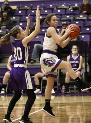 Sebring's Devyn Reggi scored 17 points for the Trojans in their game against Mahoning Valley Athletic Conference rival Mineral Ridge on Thursday night.