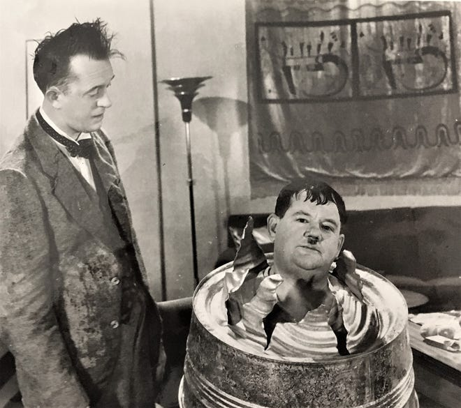 Columbia County native Oliver Hardy (right) was a famed comedic actor during Hollywood's early days.