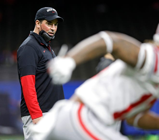 """Ohio State coach Ryan Day said the COVID-19 pandemic has made it a """"strange road"""" to get to the national championship game."""