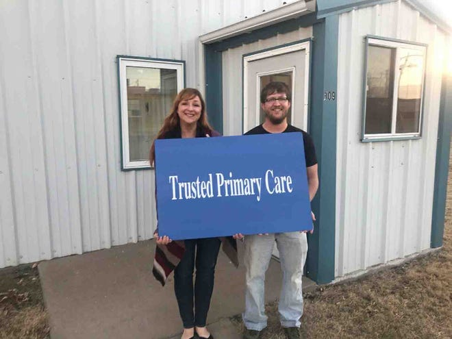 FNP-BC Merrill Hoover and FNP-BC James Green are the owners and operators of Trusted Primary Care, a new clinic in Meade, Kans.