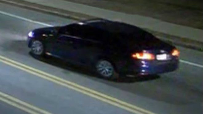 Randolph police released this photo of a suspect vehicle connected to a shooting that stemmed from a road rage incident on Jan. 8.