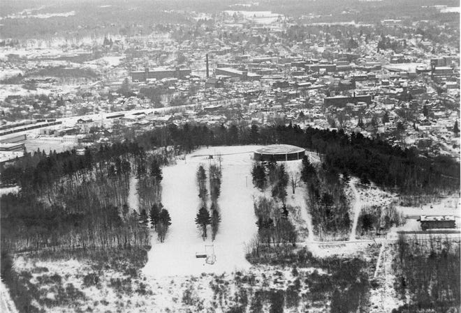 Garrison Hill's ski runs are seen in this photo from the city library archives.