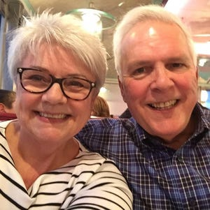 Paula Roberge of Dover with her husband, John.