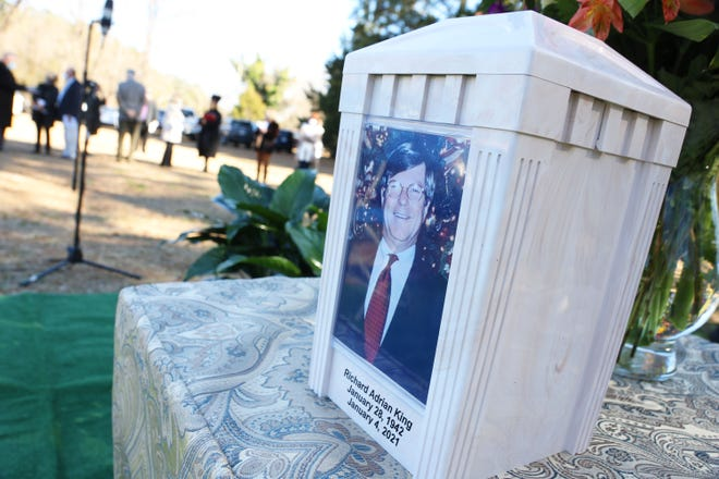 Family and friends said goodbye to Adrian King on Sunday, Jan. 10, as he was laid to rest in the King Family Cemetery.