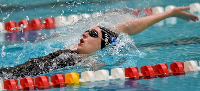 Ava Yablonski won two events in Dover-Sherborn's win over Westwood